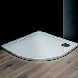 Čtvrtkruhová mramorová sprchová vanička VENETS R550
