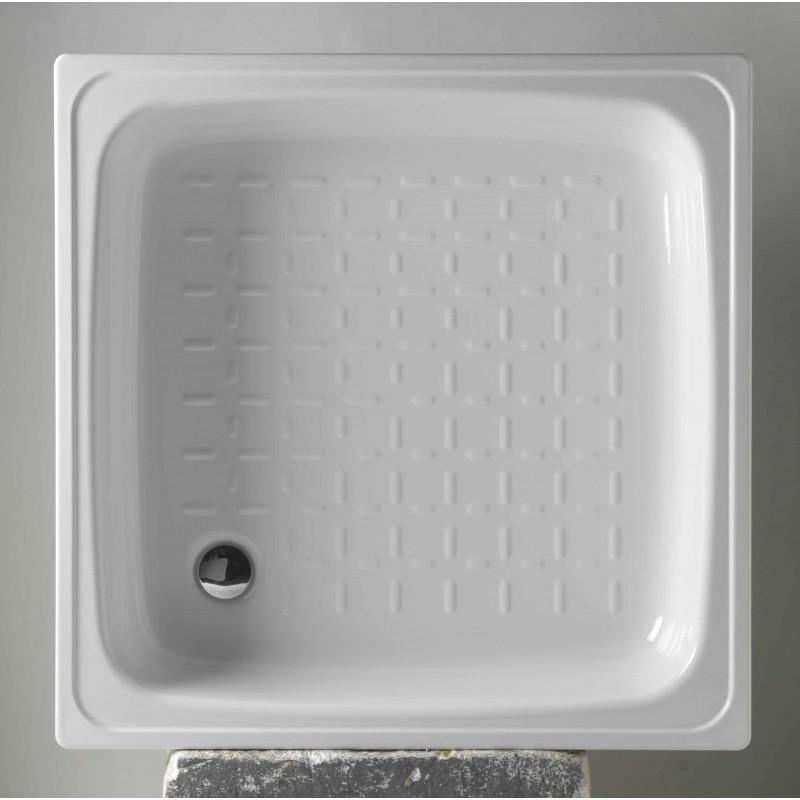 Čtvercová plechová vanička KITEN I, II - 800 x 800 x 80 mm