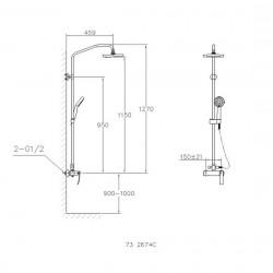 Sprchová baterie s příslušenstvím HOPA LATINA 732674C