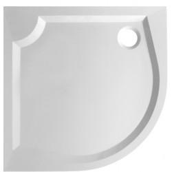 Čtvrtkruhová mramorová sprchová vanička MARBEL SOFIA II