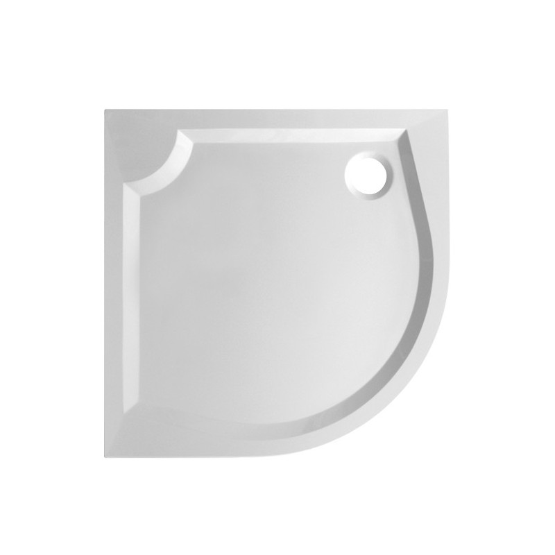 Čtvrtkruhová sprchová vanička SOFIA II - 800 x 800 x 30 mm R550, včetně panelu (výška 10 cm)