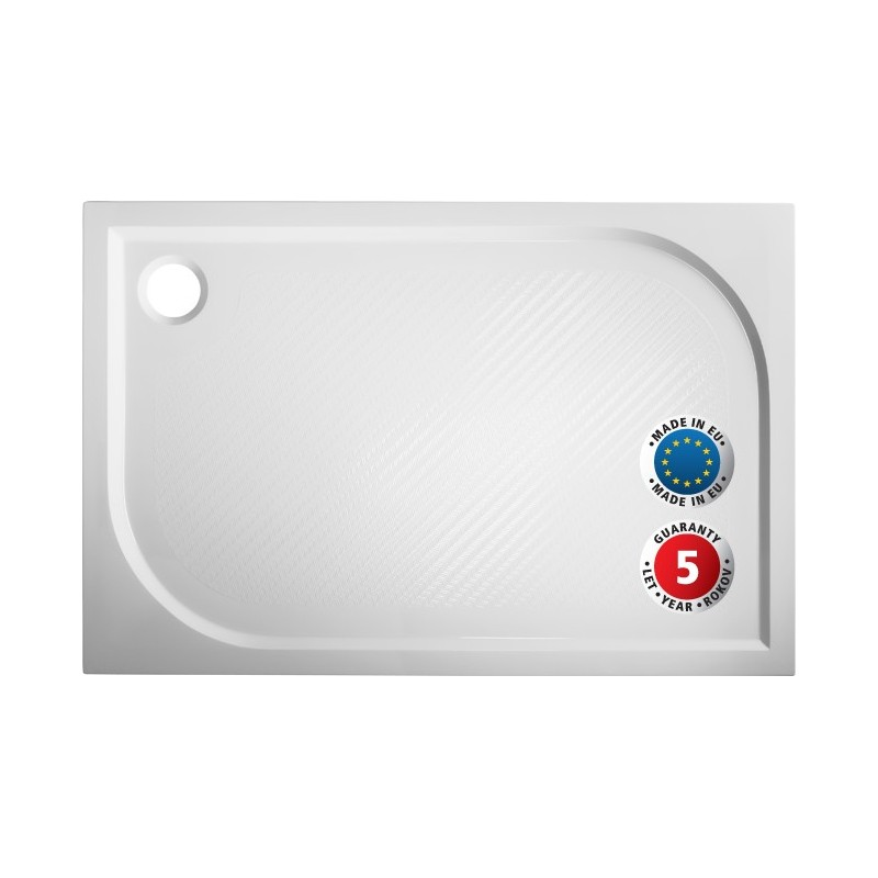 Obdélníková mramorová sprchová vanička MARBEL PLOVDIV