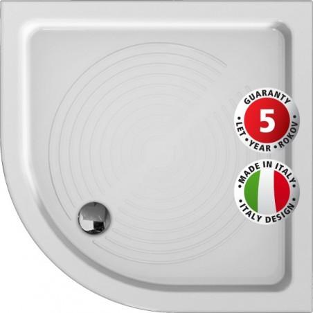 Keramická čtvrtkruhová sprchová vanička ELARA