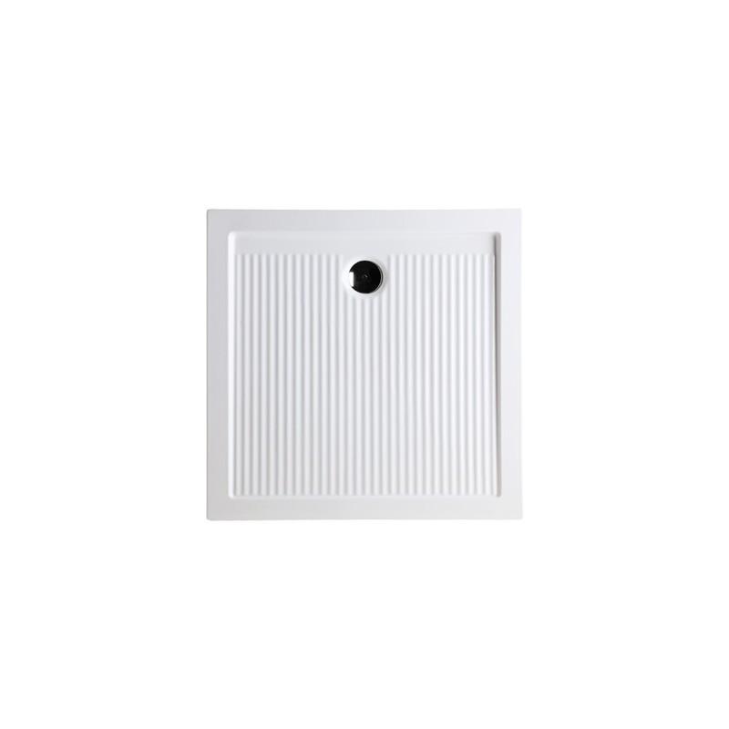Keramická čtvercová sprchová vanička FERDY I - 6,5 cm, Univerzální, 80 cm, 80 cm