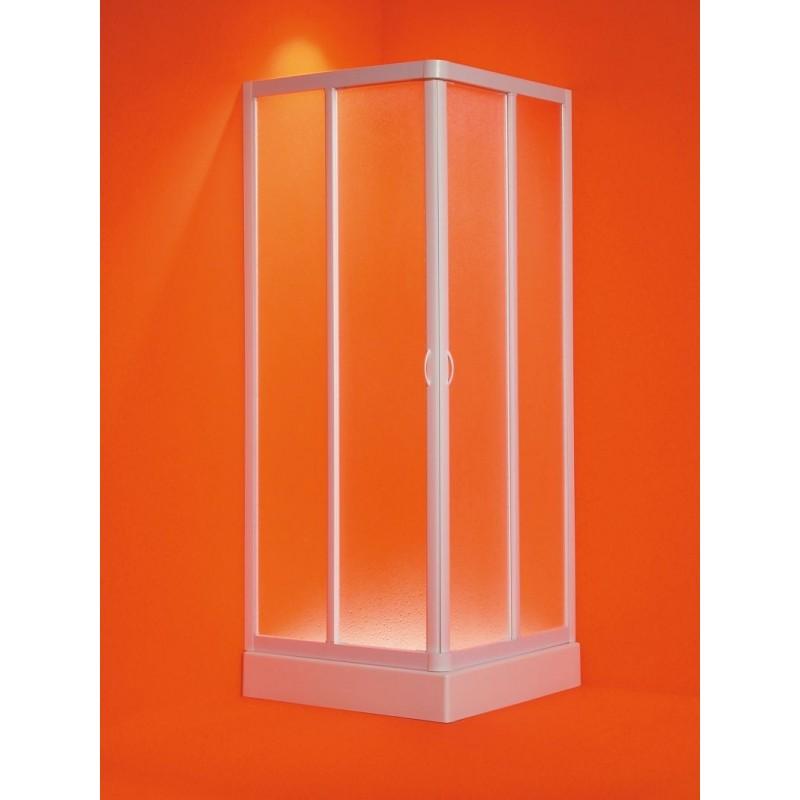 Čtvercový sprchový kout ANGOLO - 185 cm, 65 - 70 cm × 65 - 70 cm, Univerzální, Plast bílý, Polystyrol