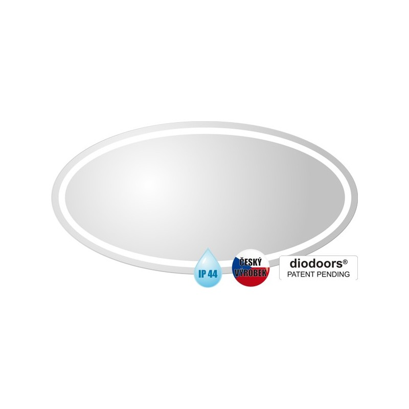 Koupelnové zrcadlo BEČVA - 800 × 600 x 29 mm (v × š x h) HOPA