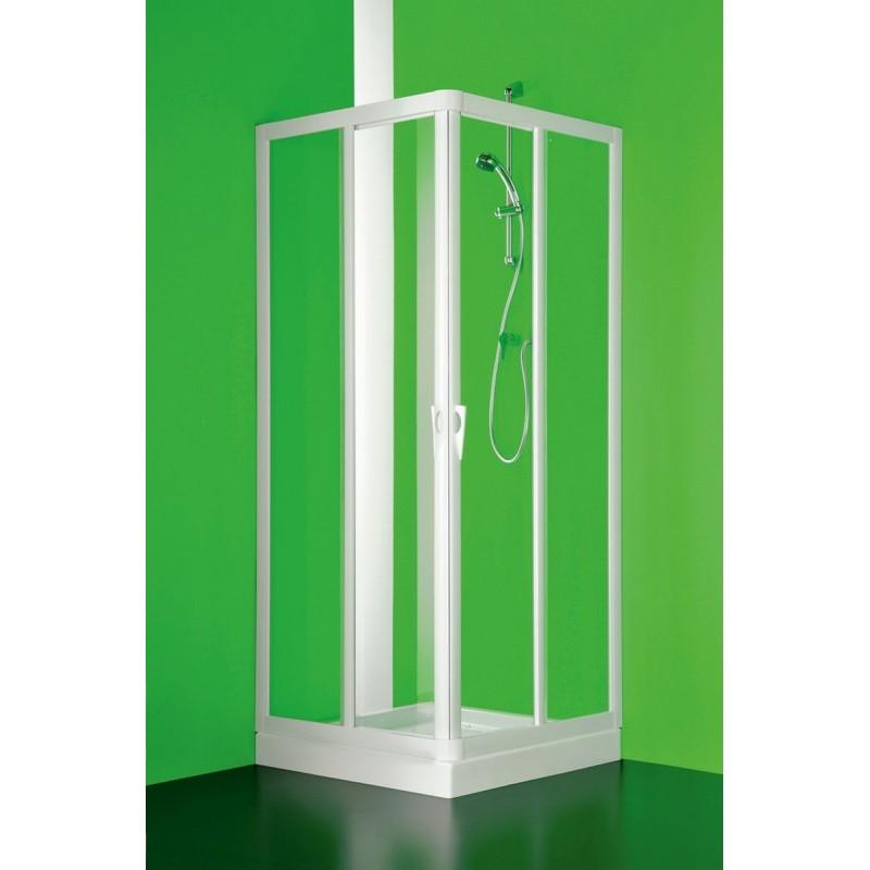Čtvercový a obdélníkový sprchový kout VELA - 185 cm, 70 cm × 70 cm, Univerzální, Plast bílý, Polystyrol