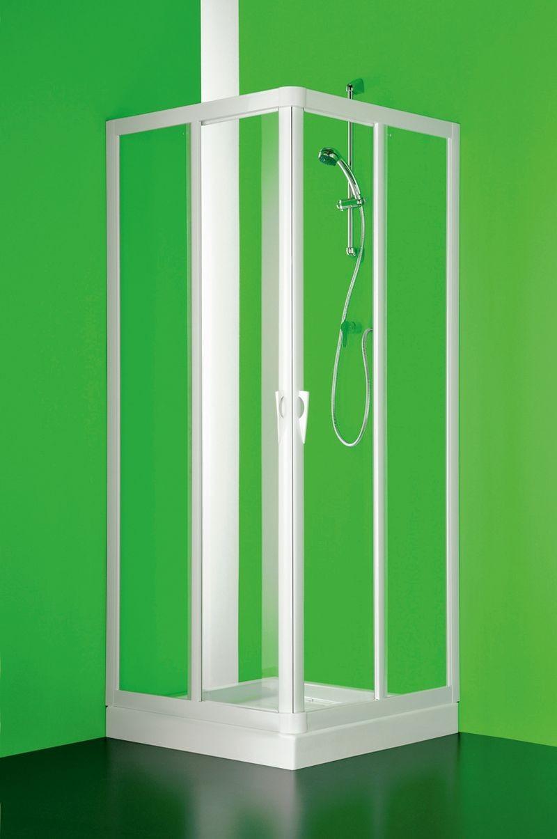 Čtvercový a obdélníkový sprchový kout Vela