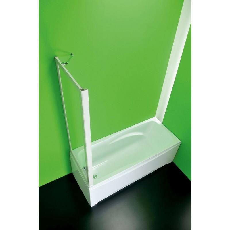 Vanová zástěna SOPRAVASCA FISSO CC - 70 - 67 cm × 150 cm, Nelze otevírat, Plast bílý, Polystyrol, Univerzální