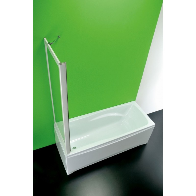 Vanová zástěna SOPRAVASCA FISSA MA - 70 - 67 cm × 150 cm, Nelze otevírat, Plast bílý, Polystyrol, Univerzální