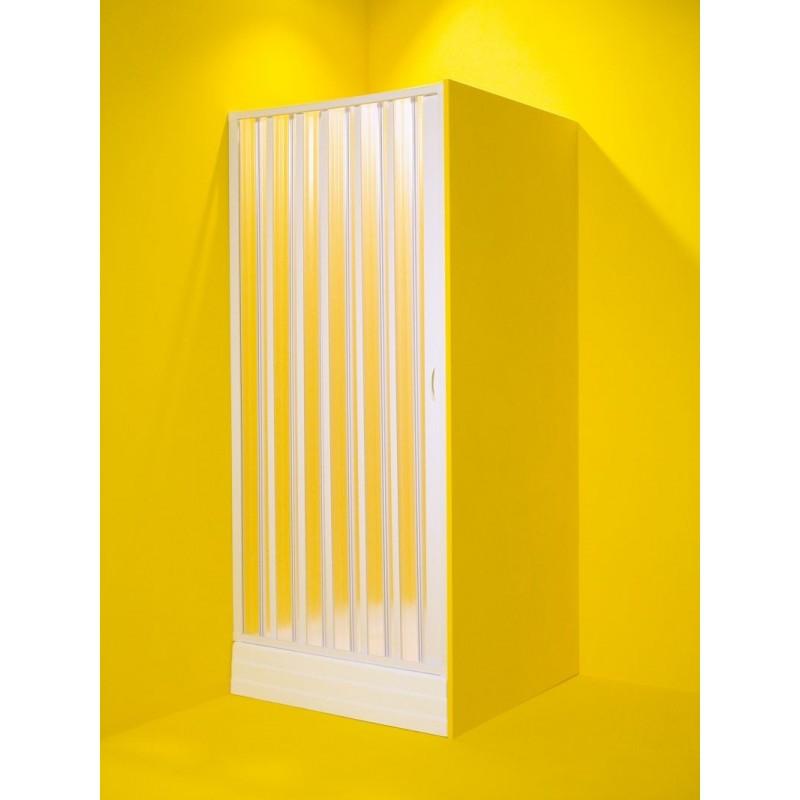 Sprchové dveře MARTE - 60 - 80 cm, 185 cm, Univerzální, Plast bílý