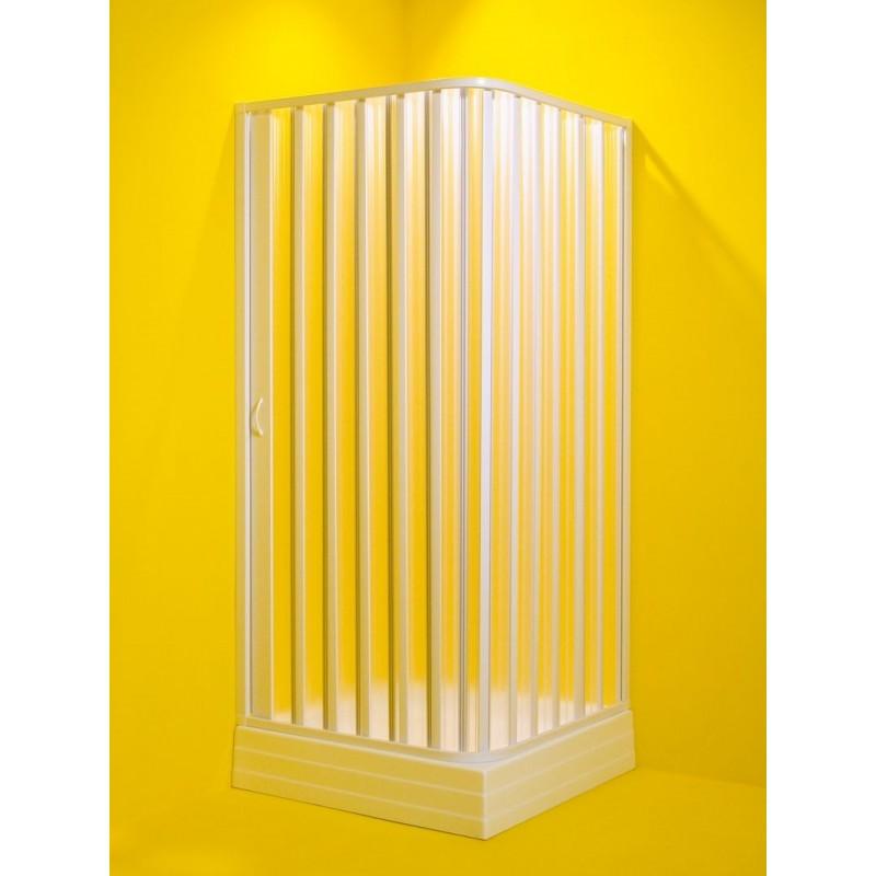 Čtvercový sprchový kout VENERE - 185 cm, 60 - 80 cm × 60 - 80 cm, Univerzální, Plast bílý, Polystyrol