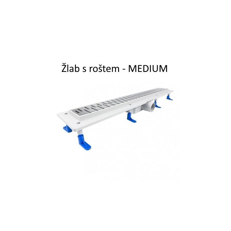 Odtokový žlab STANDARDline MEDIUM - délka 400 mm , Medium