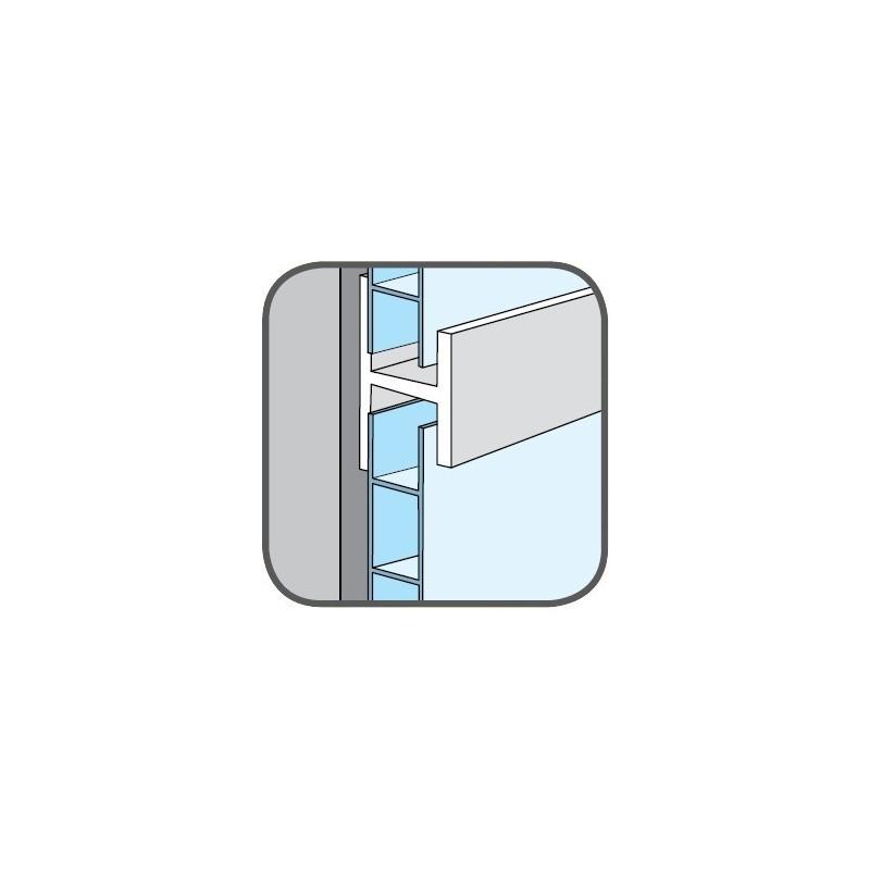 Dokončovací profil - spojovací, rovný - Bílá