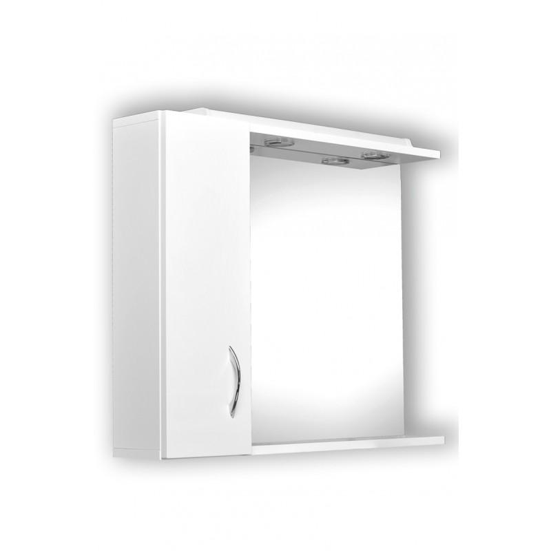 Zrcadlo Helios - Helios 85, zrcadlo s osvětlením + skříňka