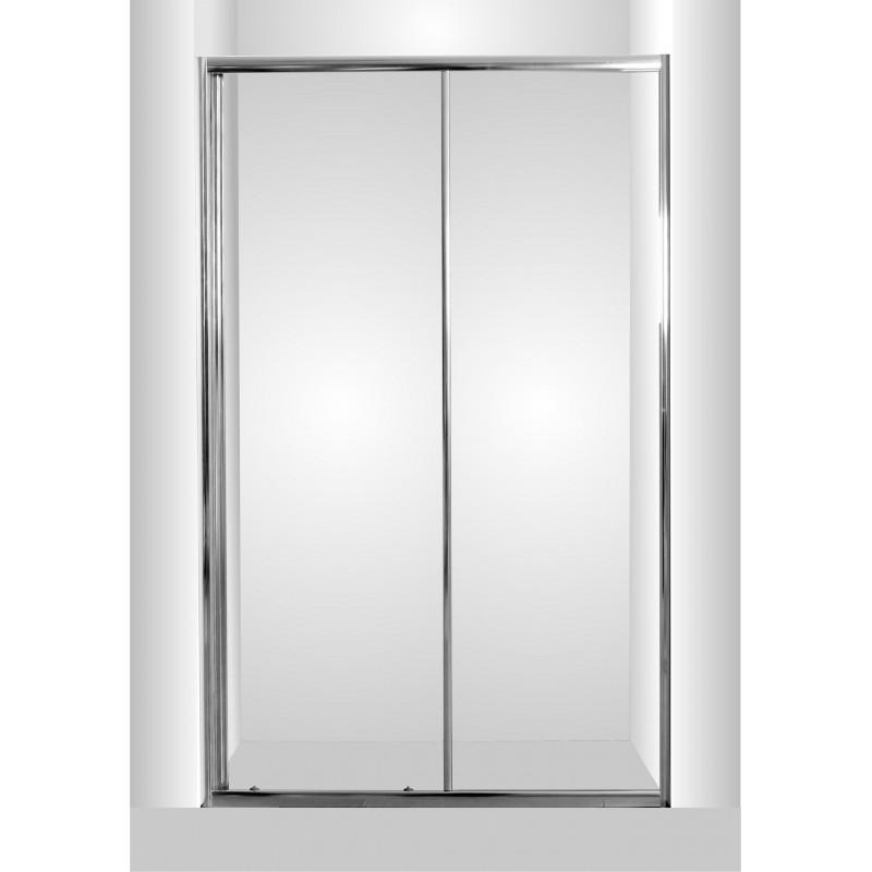 Sprchové dveře do niky SMART - SELVA - 100 cm, 190 cm, Univerzální, Hliník chrom, Čiré bezpečnostní sklo - 4 / 6 mm