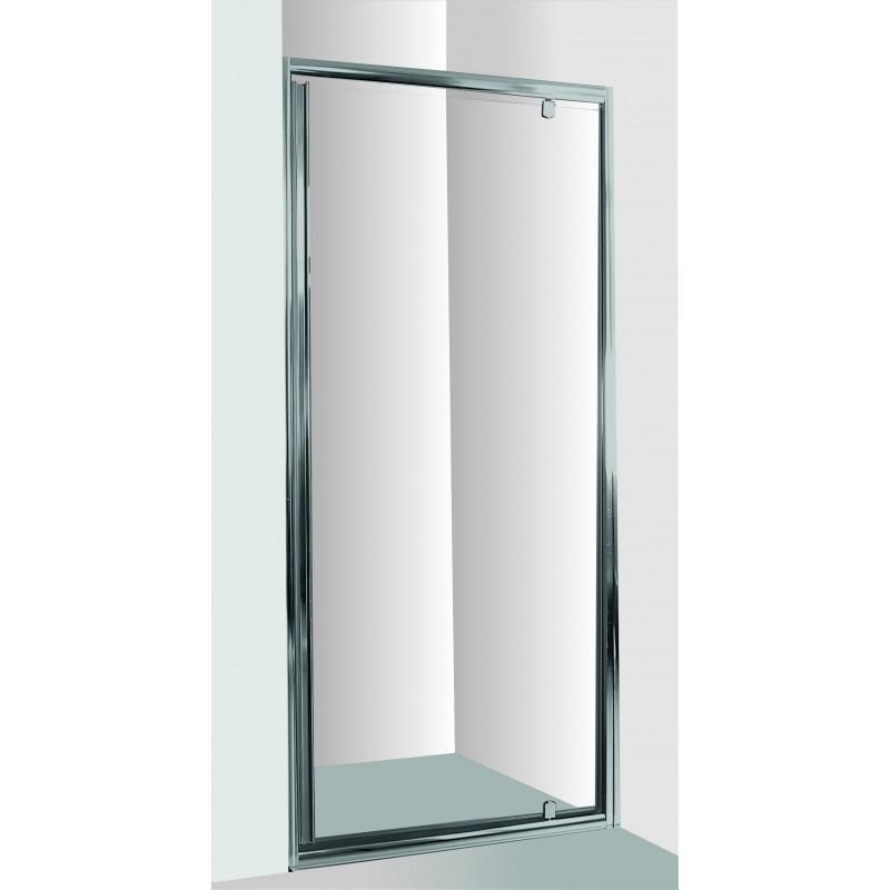 Sprchové dveře do niky SMART - ALARO - 70 cm, 190 cm, Univerzální, Hliník chrom, Čiré bezpečnostní sklo - 6 mm