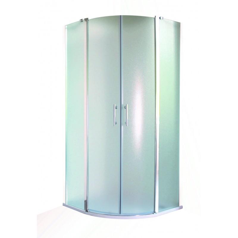 Sprchový kout LEIDA - 190 cm, 90 cm × 90 cm, Univerzální, Hliník chrom, Čiré bezpečnostní sklo - 6 mm