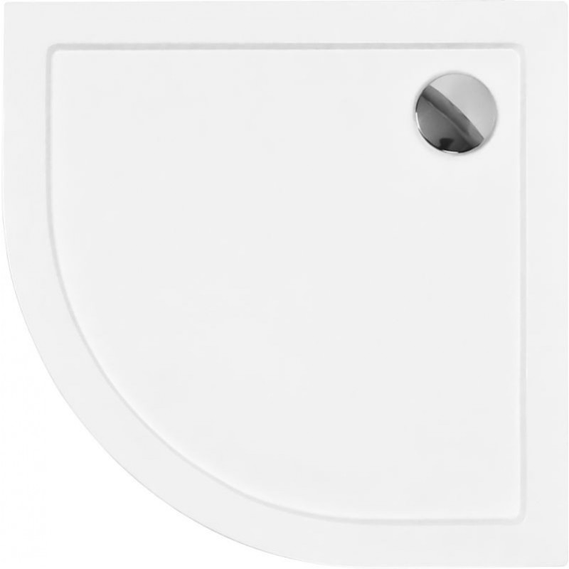 Čtvrtkruhová sprchová vanička ARON - 800 x 800 x 55 mm