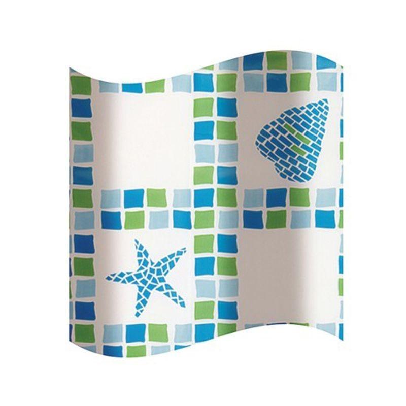 Koupelnový závěs plast KD02100272 - 180×180 cm, PEVA
