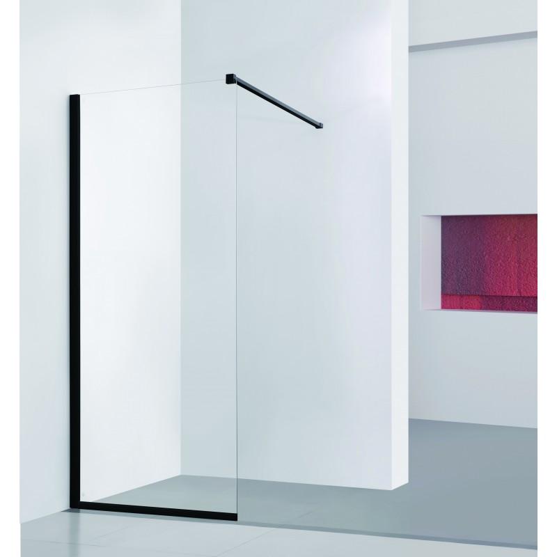 Walk-in sprchový kout LAGOS BLACK - 80 x 195 (v) cm, Hliník - černá barva