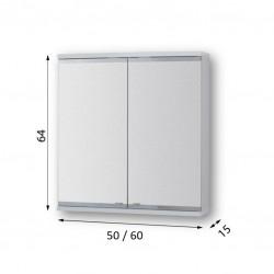 Vrchní zrcadlová skříňka ARLES s LED osvětlením