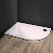 Exkluzivní asymetrická sprchová vanička VENETS z litého mramoru a s hladkým povrchem.